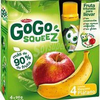 Gogo Squeez Fruta triturada de manzana-plátano Pack 4x90 g
