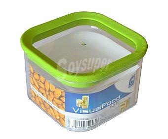 M-home Bote cuadrado de plástico para conservar alimentos secos, 0,5 litros de capacidad 1 unidad