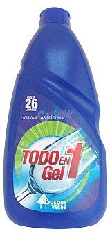 BOSQUE VERDE Detergente lavavajillas gel todo en 1 Botella de 650 ml