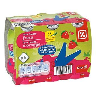 DIA Petit suisse para beber fresa-platano Pack 6 unidades 100 gr