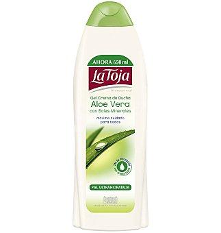 LA TOJA HIDROTERMAL gel crema de ducha Aloe Vera con sales minerales botella  650 ml