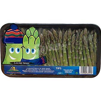 Puntas de espárragos verdes bandeja 200 g