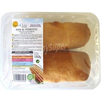 Special Line pan perritos sin gluten Bandeja 180 g