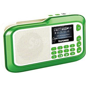 TELEFUNKEN Radio Portátil en color blanco y verde