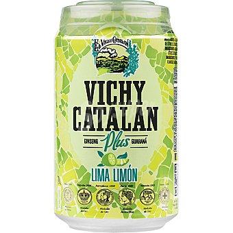Vichy Catalán Agua mineral natural con gas sabor lima-limón Lata 33 cl