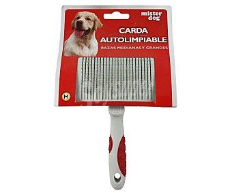 Mister dog Cepillo cardador autolimpiable para perros medianos y grandes 1 unidad