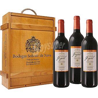 PALACIO DE GRAJAL Vino tinto reserva D.O. Ribera del Duero estuche de madera 3 botellas 75 cl