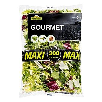 Verdifresh Ensalada gourmet maxi (escarola rizada, canonigo, radicchio) Bolsa 300 g