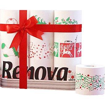 Renova Papel higiénico decorado Navidad Paquete 9 rollos