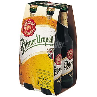Pilsner Urquell Cerveza rubia checa Pack 4 botella 33 cl