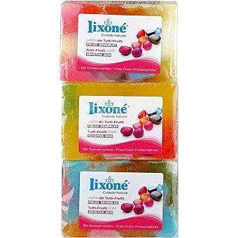 Lixone Pastilla de jabón de tutti frutti Pack 3 pastilla 125 g
