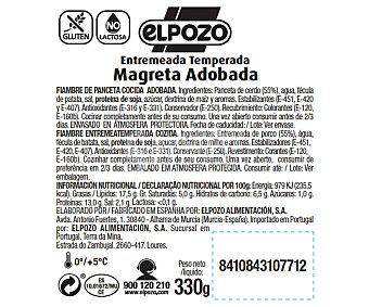 ElPozo Magreta de cerdo adobada, sin gluten 330 gr