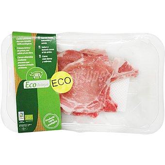 ECOROMA Chuletas de lomo de cerdo ecológico peso aproximado Bandeja 350 g