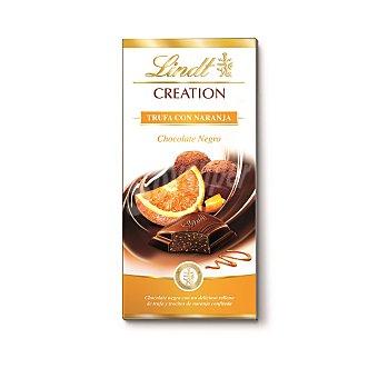 Lindt Chocolate negro relleno de trufa y trocitos de naranja confitada  Tableta de 100 g