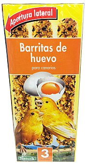 Natura Comida canario barrita huevo Caja 81 g (3 uds)