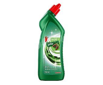 Auchan Limpiador WC en gel líquido con fragancia pino, limpia, elimina la cal y se adhiere a las paredes 750 mililitros