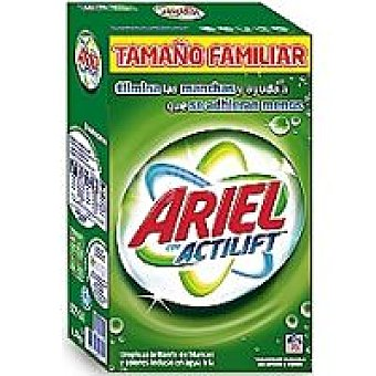 Ariel Detergente en polvo Maleta 76 cacitos