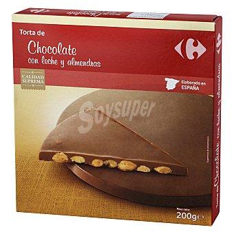 Carrefour Torta de chocolate con leche y almendras 200 g