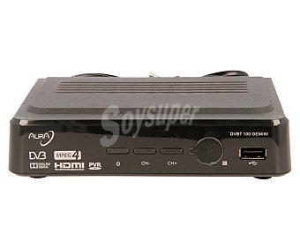 AURA GEMINI Sintonizador TDT de sobremesa de alta definición, USB reproductor y grabador, hdmi, Euroconector