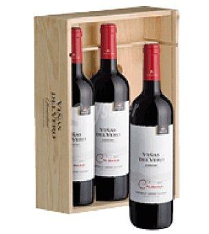 Viñas del Vero Estuche de vino tinto crianza D.O. Sotomontano pack de 3x75 cl