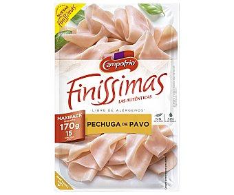 Campofrío Finissimas Pechuga de pavo cortada en finas lonchas 170 g