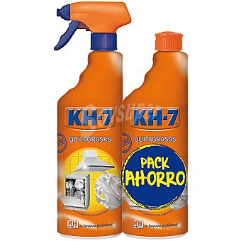 KH-7 Pack quitagrasas original Pack ahorro 2 envase 750 ml