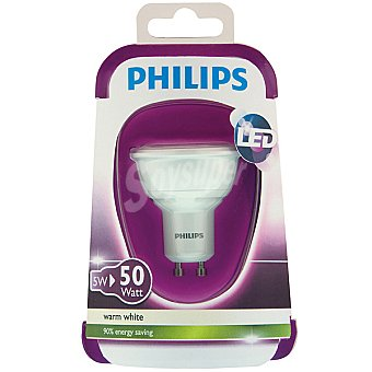 PHILIPS Dicroica 5 W (50 W) lámpara led blanco cálido GU10