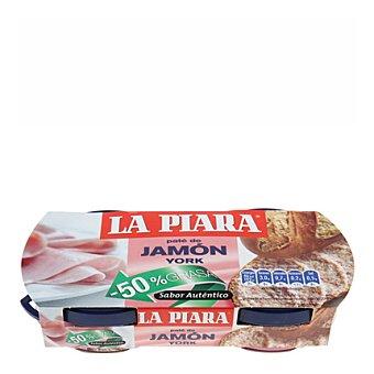 La Piara Paté de jamón york -50 % grasa 168 g