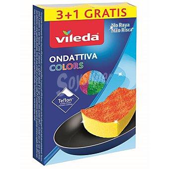 Colors Estropajos vileda - Multicolor 4 ud