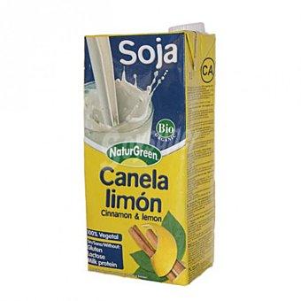 Naturgreen bebida de soja a la canela y limón envase 1 l