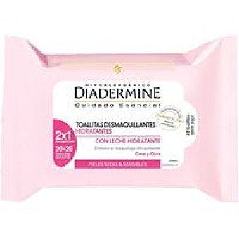 Diadermine Toallitas desmaquillantes Pack 2x20 unid