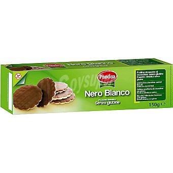 PANDEA Nero Blanco Galletas recubiertas de chocolate sin gluten Envase 150 g