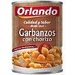 Garbanzos con chorizo Lata 425 g Orlando