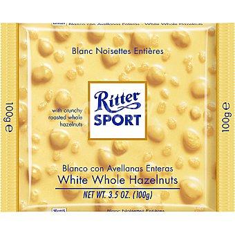 Ritter Chocolatina de chocolate blanco con avellanas enteras Sport Tableta 100 g