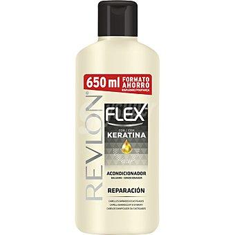 Flex Revlon Acondicionador Reparación con keratina para cabello seco o castigado Frasco 650 ml