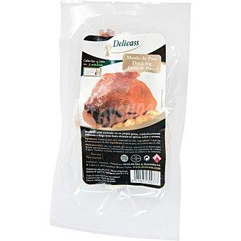 Delicass Muslo de confit de pato cocinado sin gluten  envase 300 g