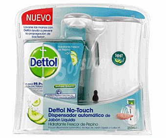 Dettol Dispensador Automático Jabón Líquido Fragancia Pepino No Touch Completo 250ml