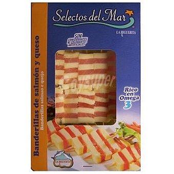 LA HIGUERITA Banderillas de salmón y queso Bandeja 10 unidades