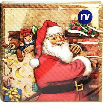 Nv corporacion Servilletas decorado Papá Noel 2 capas 33x33 cm Paquete 20 unidades