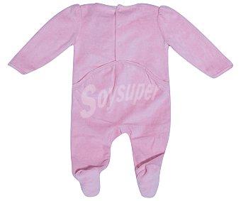 In Extenso Pijama pelele de bebe aterciopelado, color coral, talla 50