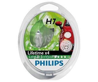 Philips Bombillas halógenas para automóvil, modelo H7 Longlife Ecovisión, potencia: 55W 2 Unidades