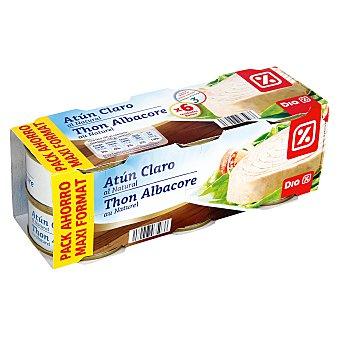 DIA Atún claro al natural Pack de 6 latas 56 gr