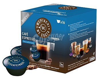 Mepiachi Café espresso de tueste natural descafeinado en monodosis compatibles con Dolce Gusto mepiach 16 unidades