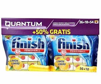 FINISH QUANTUM Lavavajillas Concentrado Limón 36 + 18 Unidades