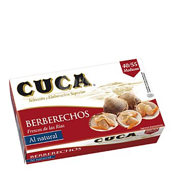 Cuca Berberechos al natural 40/55 63 g
