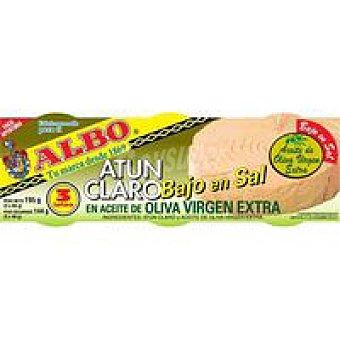 Albo Atún claro en ace. de oliva virgen bajo en sal Pack 3