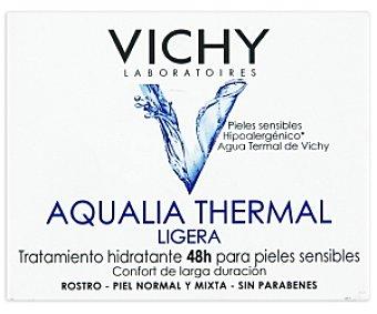 VICHY Agua termal ligera hidratante ,48 horas para pieles sensibles, 50 Mililitros