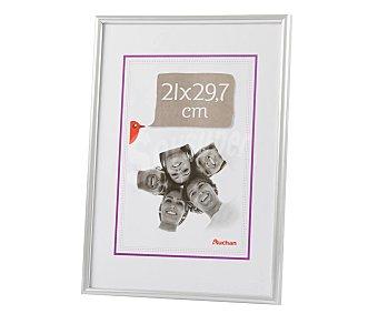 PRODUCTO ALCAMPO 58 Marco de plástico, color plata. Colección Universal. 21x29 cm, para pared alcampo