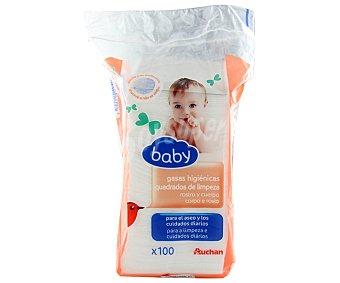 BABY Gasas higiénicas para el aseo y los cuidados diarios del bebé 100 unidades