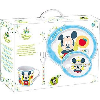 STOR Vajilla de 5 piezas de Mickey para microondas
